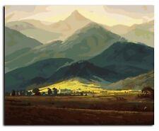 Fai DA TE TELA DIPINTO A OLIO vernice da numeri Mountain rangekit includono colori + pennello