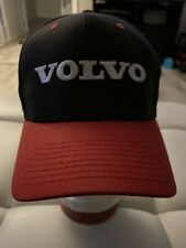 Vtg Volvo Snapback Black Red Ball Cap Adj Hat Embroidered Logo Cyrk Licensed