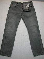 Levis 501 34x32 Straight Leg Gray Denim Mens Jeans Button Fly (Measure33x31.5)