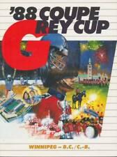 1988 Vintage CFL Grey Cup Program en francais  Winnipeg Blue Bombers B.C. Lions