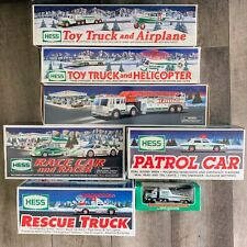 Hess Truck Collectible Lot of 7 Vehicles 1993-2009 Original Boxes Some New/Mint