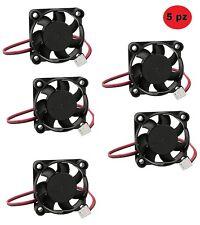 Pack 5 Pezzi Ventoline Raffreddamento CPU Cooler 5 x 5 cm 12 V 1.4W Silenziose