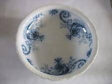 Antique Villeroy & Boch Wallerfangen Flow Flo Blue transferware Erich wash bowl