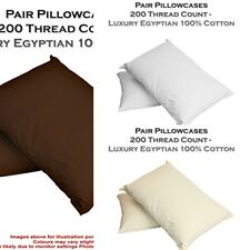NEW 100% EGYPTIAN COTTON PILLOWCASESSINGLE AND PAIRS 200 THREAD COUNT PILOWCASE