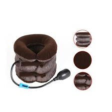 US Air Inflatable Cervical Neck Head Pain Traction Pillow Support Brace Portable