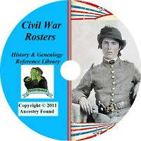 Civil War Rosters - Names - Records - 70 Books on DVD