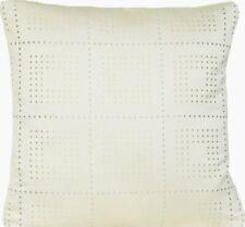 "Silver Woven Checks Cushion Cover Fabric Osborne & Little Square 16"" CLEARANCE"
