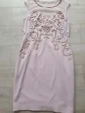 Ladies  Nude Phase Eight Cocktail Dress Size 14