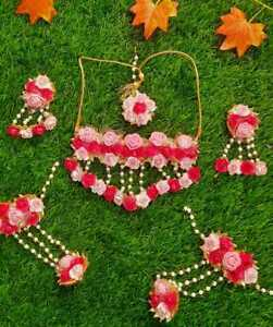 Flower Gotta Patti Jewelry,Floral haldi,Mehendi,baby Shower Ceremony for Bridal
