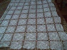 CROCHETED BED SPREAD OR THROW