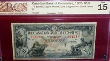 1935 $10  CANADIAN BANK OF COMMERCE   CANADA CHARTERED BANKNOTE