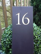 Large Handcut Welsh Slate Garden Sign Deep Engraved Ground Fixed Hand Painted