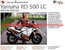 YAMAHA RD 500 LC ( RDLC ) 1984 Fiche Moto 000258