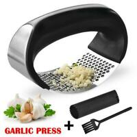 Stainless Steel Manual Garlic Press Crusher Squeezer Masher Kitchen Tools 2019