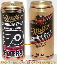 1993-94 PHILADELPHIA FLYERS BEER CAN PENNSYLVANIA NHL PRO ICE HOCKEY MILLER PINT
