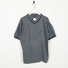 Vintage CHAMPION Small Logo T Shirt Tee Grey Large L