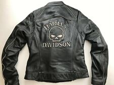 HARLEY DAVIDSON WILLIE G REFLECTIVE SKULL 3 IN 1 LEATHER JACKET SMALL 98152-09VW