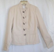 Beige Cotton Summer Jacket, Next size 10L. Long sleeves, fully lined.