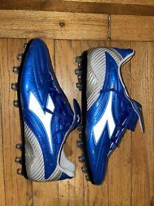 Diadora Maximus AG Kangroo Leather Soccer Shoes Cleats Customized Sole Sz 8
