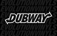 Dubway sticker decal euro vw golf jetta tdi gti MK1 MK2 MK3 MK4 MK5 MK6