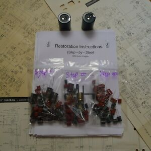 Sansui 221 310 331 rebuild restoration capacitor kit repair instructions
