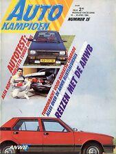 1984 AUTOKAMPIOEN MAGAZIN 15 ALFA ROMEO GULIETTA TB DIESEL DAIHATSU CHARADE