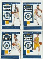 2019-20 PANINI CONTENDERS BASKETBALL S Curry D Russell Warriors 4 CARD LOT