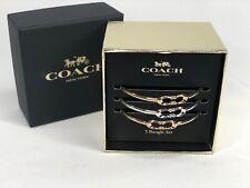 Coach Signature C Bangles Bracelet Set of 3 Gift Box Set Gold / Silver / Rose G.