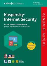 KASPERSKY INTERNET Security 2018 , licenza 1 PC > 1 ANNO - KL1941T5AFS-8SLIM - I