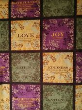Fabric inspirational, holiday, religious, holiday colors