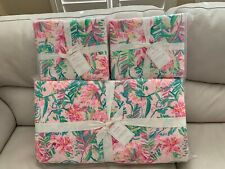 Pottery Barn Lilly Pulitzer Lilly of the Jungle Quilt & 2 Euro shams King/Cal.K