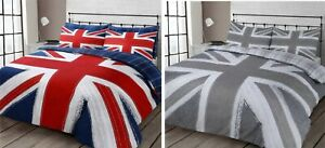 Union Jack Reversible Checkered Duvet Cover Pillowcase(s) Bedding Set