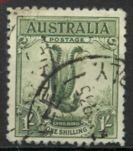 Australia 1932 Superb Lyre Bird 1s green SG 140 used *COMBINED SHIP