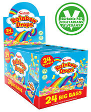 SWIZZELS RAINBOW DROPS 24 x BIG BAGS FULL BOX  RETRO SWEETS
