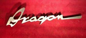 1952 1953 Kaiser dragon front fender  emblem logo ornament NOS Never mounted WOW