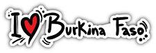 I Love Burkina Faso Slogan Car Bumper Sticker Decal 8'' x 2''