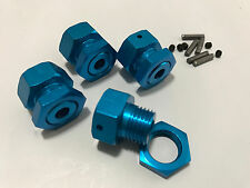 Traxxas Revo T-Maxx 3.3 Adapters convert 14mm to 17mm hex Blue!!