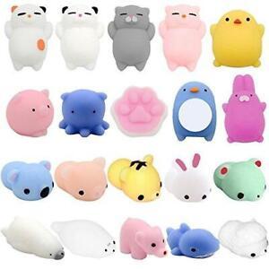 YESONE Mochi Squishy Toys, 20 Pcs Mochi Kawaii Squishies Squishy Animals Stress