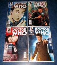 DOCTOR WHO #1 10th tenth 1:10 DAVID TENNANT photo A/B set (4) TITAN COMIC 2014