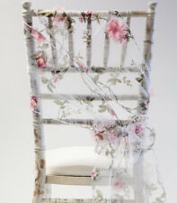 BLOSSOM ORGANZA CHAIR SASH FLORAL BOW OR TABLE RUNNER WEDDING CHAIRS EVENT