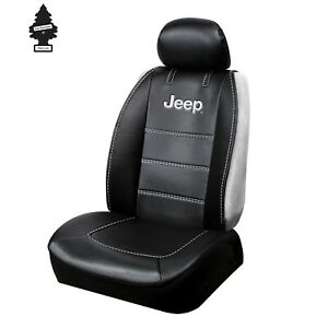 CAR SEAT COVER FOR JEEP LOGO BLACK SIDELESS UNIVERSAL SIZE BRAND NEW ONE PIECE