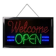 "21x13"" Animated ""Welcome Open"" Neon Business Sign Led Animated Flashing Light"