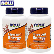 NOW Foods Thyroid Energy 90/180 Caps Metabolism Booster Fat Burner Weight Loss