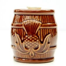 Vintage Retro Gleneagles Scotch Whisky Miniature Barrel Cask Bottle Peter Thomas