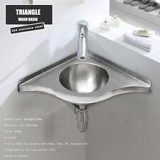 Triangle Round Hand Wash Basin Corner Sink For RV Boat Caravan Camper SS GR-597