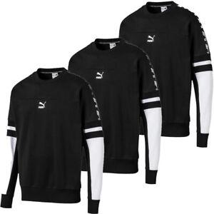 Puma Mens Crew Sweatshirt XTG Tracksuit Fleece Cotton Tops Colourblock Size S L