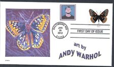 ANDY WARHOL  BUTTERFLY      FDC- DWc CACHET