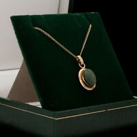 Antique Vintage Mid Century 12k Gold Filled GF SARAH COVENTRY Jade Necklace 2.3g