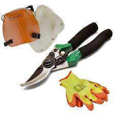 Pruning Cutting Pruners Set Leather Knee Kneeling Pads Protective Latex Gloves