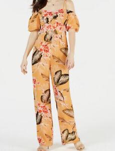 Guess Valtina Printed Off Shoulder Jumpsuit Size 0